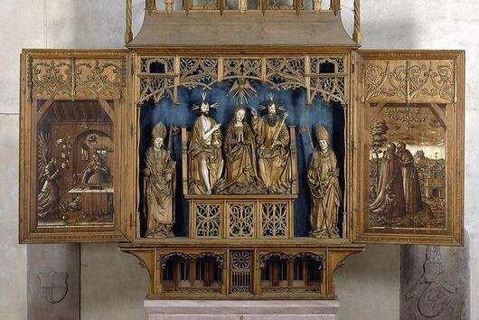 Image: Altar of Mary at Alpirsbach Monastery