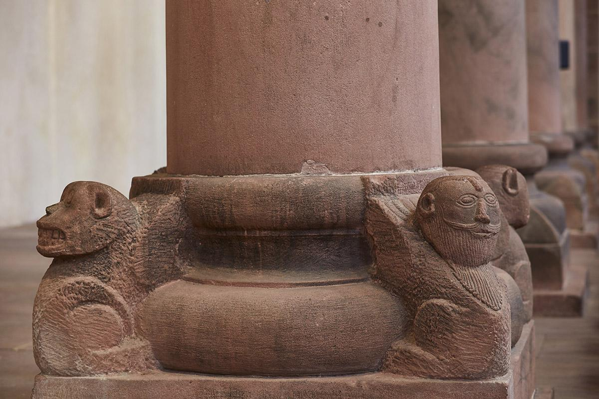 Column pedestal in the church at Alpirsbach Monastery. Image: Staatliche Schlösser und Gärten Baden-Württemberg, Markus Schwerer