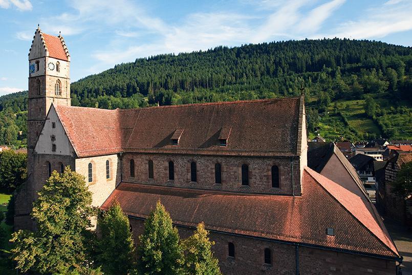 Ansicht von Kloster Alpirsbach; Foto: Staatliche Schlösser und Gärten Baden-Württemberg, Achim Mende