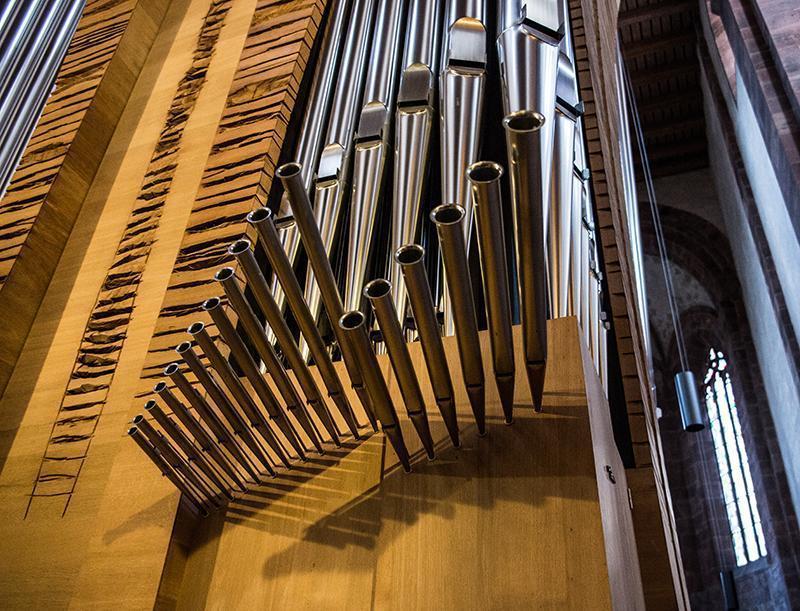 Orgelskulptur von Claudius Winterhalter und Armin Göhringer; Foto: Thomas Radlwimmer