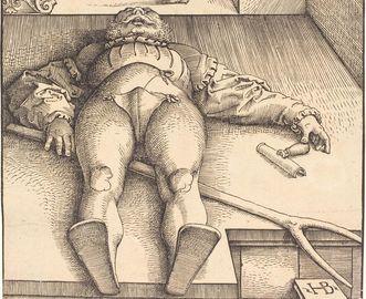 "Ausschnitt aus dem Holzschnitt ""Der verhexte Stallknecht"" von Hans Baldung Grien, vor 1544"