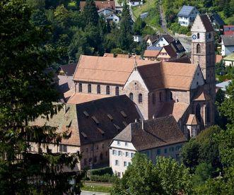 View of Alpirsbach Monastery. Image: Staatliche Schlösser und Gärten Baden-Württemberg, Achim Mende