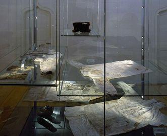 Die Funde im Klostermuseum von Kloster Alpirsbach; Foto: Staatliche Schlösser und Gärten Baden-Württemeberg, Dirk Altenkirch