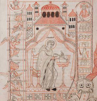 Der heilige Benedikt von Nursia