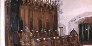 Image: Choir stalls in the church at Alpirsbach Monastery