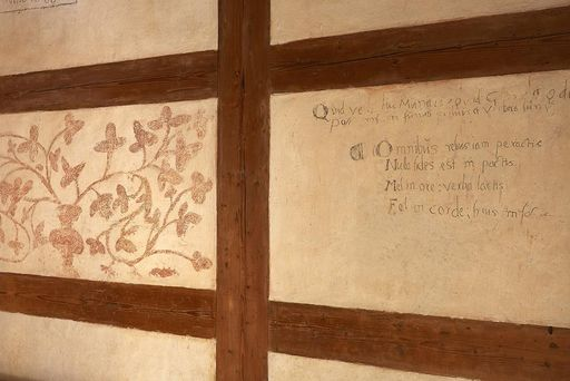 Graffiti on the walls of the monks' cells at Alpirsbach Monastery. Image: Staatliche Schlösser und Gärten Baden-Württemberg, Markus Schwerer