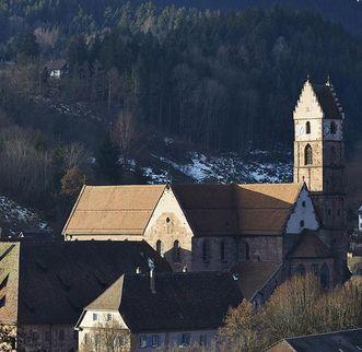Aerial view of Alpirsbach Monastery