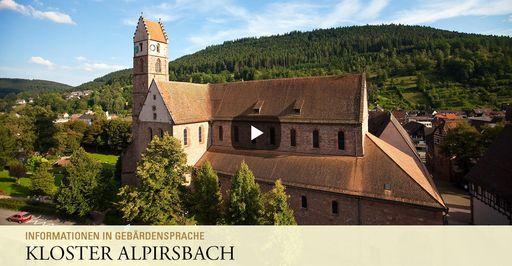 """Startbildschirm des Filmes """"Kloster Alpirsbach: Informationen in Gebärdensprache"""""""