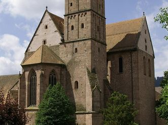 Monastery church with bell tower. Image: Alpirsbach Tourist Info
