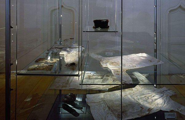 Alpirsbach monastery, view of a glass case in the museum