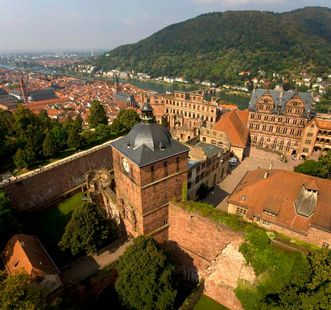 Heidelberg Palace and historic town. Image: Staatliche Schlösser und Gärten Baden-Württemberg, Achim Mende