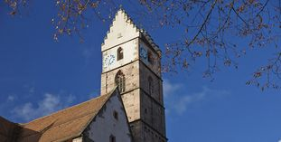 Image: Bell tower in the monastery church at Alpirsbach Monastery