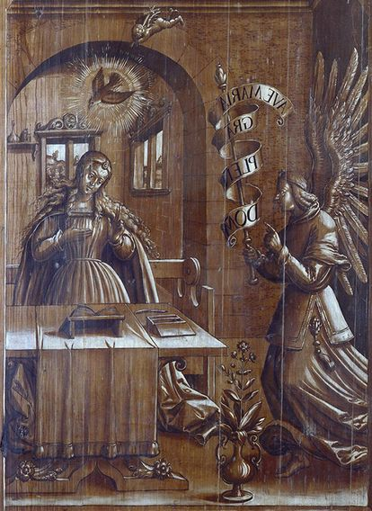 Scene from the altar of St. Mary at Alpirsbach Monastery. Image: Staatliche Schlösser und Gärten Baden-Württemberg, Dirk Altenkirch